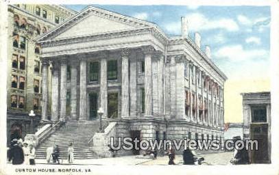 Custom House  - Norfolk, Virginia VA Postcard
