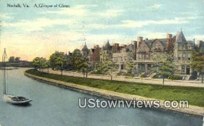 A Glimpse Of Ghent  - Norfolk, Virginia VA Postcard