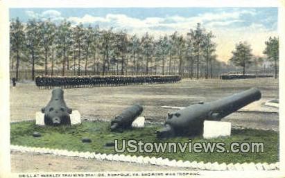 Drill At Berkley Station  - Norfolk, Virginia VA Postcard