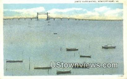 James River Bridge  - Newport News, Virginia VA Postcard