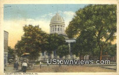 Court House  - Norfolk, Virginia VA Postcard