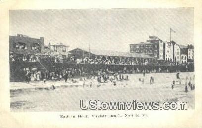 Bathing House  - Norfolk, Virginia VA Postcard