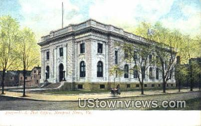 US Post Office  - Newport News, Virginia VA Postcard