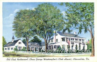 Old Lub restaurant  - Alexandria, Virginia VA Postcard