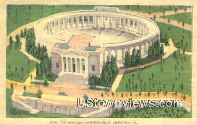 The Memorial Amphitheatre  - Arlington, Virginia VA Postcard