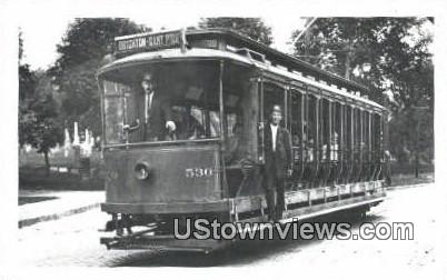 Trolley Car 530 - Brighton, Virginia VA Postcard