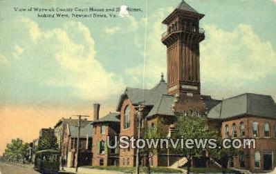 Warwick County Court House - Newport News, Virginia VA Postcard
