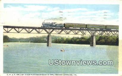 R F And P Bridge over Rappahannock  - Fredericksburg, Virginia VA Postcard