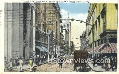 Granby Street - Norfolk, Virginia VA Postcard