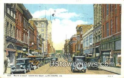 Main Street  - Lynchburg, Virginia VA Postcard