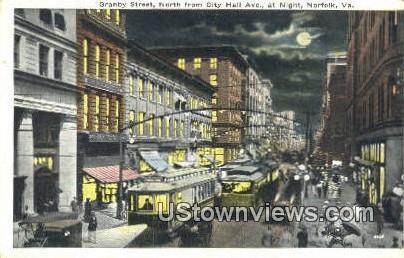 Granby Street North of City Hall - Norfolk, Virginia VA Postcard