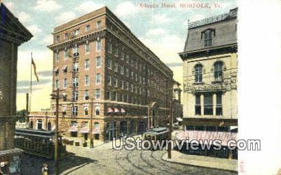 Atlantic Hotel  - Norfolk, Virginia VA Postcard