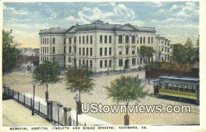 Memorial Hospital  - Richmond, Virginia VA Postcard