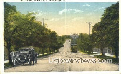Boulevard Walnut Hill  - Petersburg, Virginia VA Postcard
