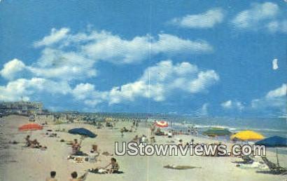 Bathers Enjoying The Sun And Surf  - Virginia Beach Postcards, Virginia VA Postcard