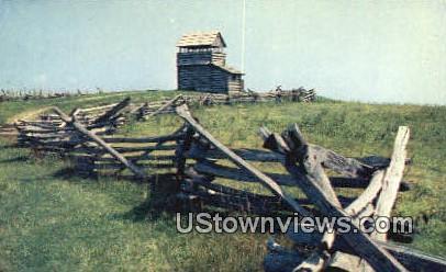 Pioneer Rail Fences  - Blue Ridge Parkway, Virginia VA Postcard