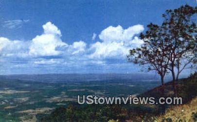 A Panoramic View From   - Skyline Drive, Virginia VA Postcard