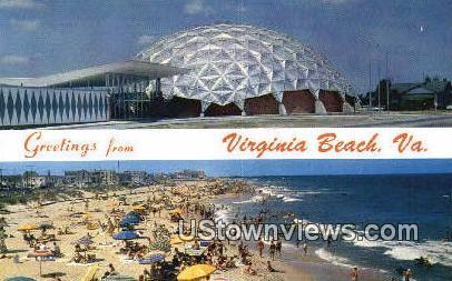 Greetings From  - Virginia Beach Postcards, Virginia VA Postcard