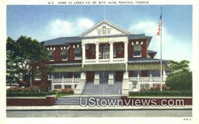 Home Of Lodge No197  - Roanoke, Virginia VA Postcard