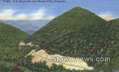 US Route 60  - Buena Vista, Virginia VA Postcard