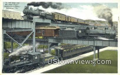 Sixteenth And Dock  - Richmond, Virginia VA Postcard
