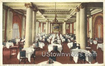 Main Dining Room Jefferson Hotel  - Richmond, Virginia VA Postcard