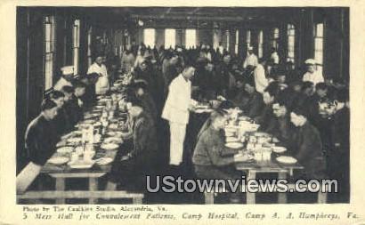 Mess Hall Camp Hospital  - Humphreys, Virginia VA Postcard