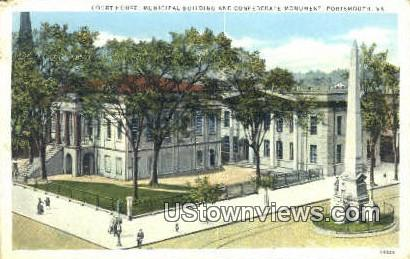 Court House Municipal Building - Portsmouth, Virginia VA Postcard