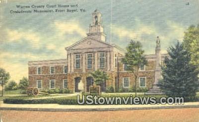 Warren County Courthouse  - Front Royal, Virginia VA Postcard
