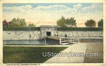 Fort Entrance  - Fort Monroe, Virginia VA Postcard