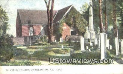 Blanton Church  - Petersburg, Virginia VA Postcard