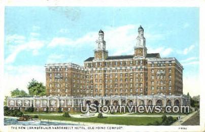 The New Chamberlain Vanderbilt Hotel  - Old Point Comfort, Virginia VA Postcard