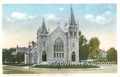 St Marys Star Of The Sea Church - Old Point Comfort, Virginia VA Postcard