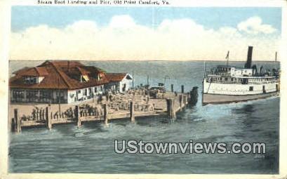 Steamboat Landing And Pier   - Old Point Comfort, Virginia VA Postcard