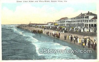 Ocean View Hotel And Waterfront  - Virginia VA Postcard