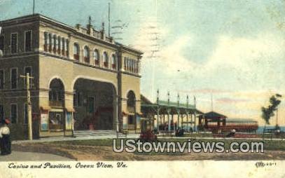 Casino And Pavilion  - Ocean View, Virginia VA Postcard