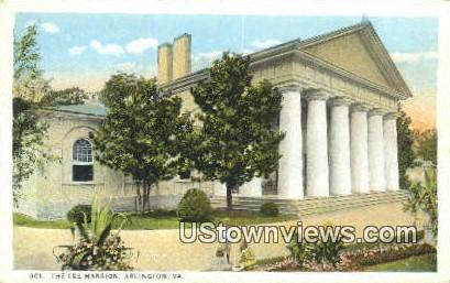 The Lee Mansion  - Arlington, Virginia VA Postcard