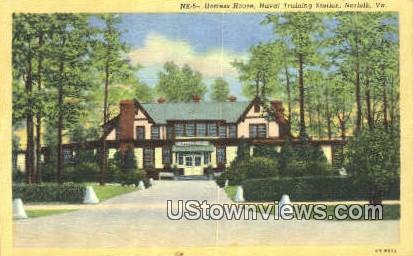 Hostess House Naval Training Station  - Norfolk, Virginia VA Postcard