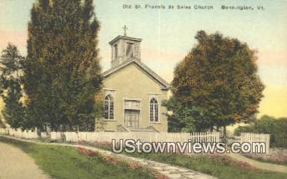 Old St Francis De Sales Church  - Bennington, Virginia VA Postcard