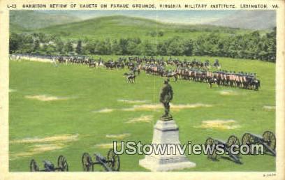 Parade Grounds Military institute - Lexington, Virginia VA Postcard