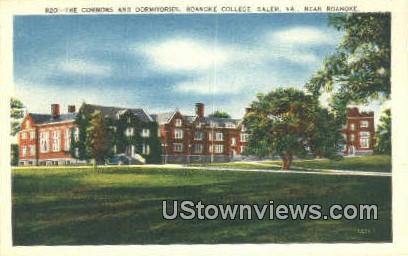 Commons & Dorms Roanoke College - Salem, Virginia VA Postcard