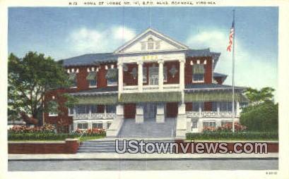 Home Of Lodge No.197  - Roanoke, Virginia VA Postcard