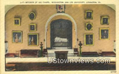Lee Chapel Washington & Lee Univ. - Lexington, Virginia VA Postcard