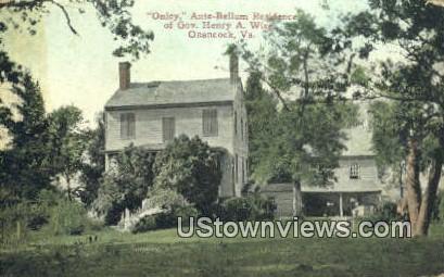 Onley Ante Bellum Residence  - Onancock, Virginia VA Postcard