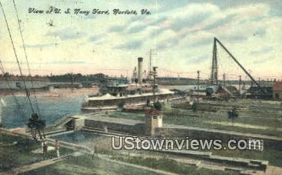 US Navy Yard  - Norfolk, Virginia VA Postcard