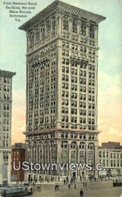 First National Bank - Richmond, Virginia VA Postcard