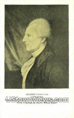 Richard Henry Lee  - Stanford Hall, Virginia VA Postcard