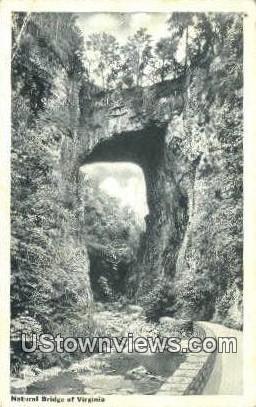 Natural Bridge, Virginia, VA, Postcard