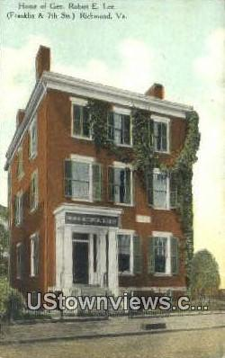 Home of General Robert E Lee  - Richmond, Virginia VA Postcard