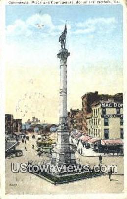 Commercial Place - Norfolk, Virginia VA Postcard